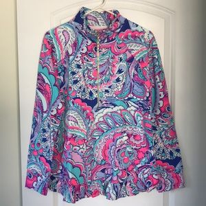 Lilly Pulitzer popover pink tropics mermaids call